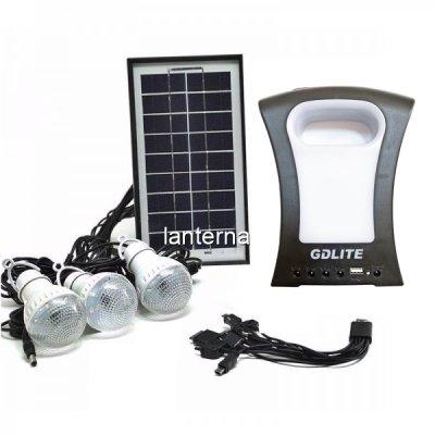 Kit Solar Lanterna LED, USB, 3 Becuri, 6V GDLite GD77