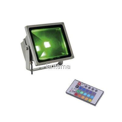 Proiector cu LED RGB Color 220V 20W si Telecomanda