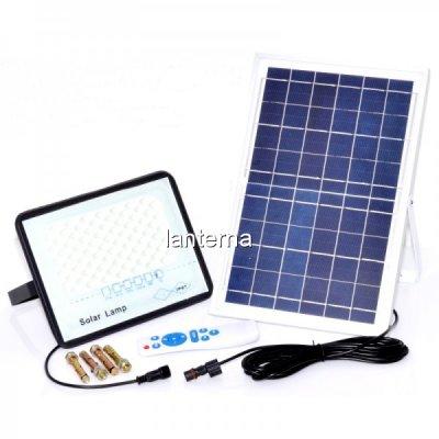 Proiector LED 50W 6500K IP67 cu Panou Solar si Telecomanda LPS5082