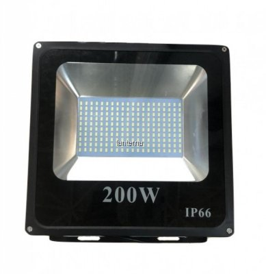 Proiector LED SMD 200W Slim Alb Rece 6400K IP66 220V