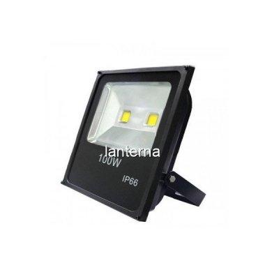 Proiector Slim LED 100W Alb Rece 6500K 220V 2x50W PRO1010-22100