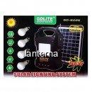 Kit Panou Solar 18W cu Lanterna, 4 Becuri si RadioFM Gdlite GD8025 12V4Ah