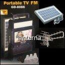 Kit Solar Incarcator Urgente Antena TV Radio FM USB MP3 GdLite GD8086