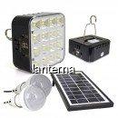 Kit Solar Lampa 16LED SMD, USB, 2 Becuri, 6V 4Ah GD8039
