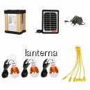 Kit Solar Lanterna LED 3W COB LED DAT AT8316 Panou Incarcare Solara