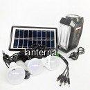 Kit Solar Lanterna LED, Lampa U, Radio FM, SD, USB MP3, 4V4Ah GD8057