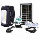 Kit Solar Lanterna LED Radio FM USB SD 4 Becuri 4V4Ah GDPlus GD8061