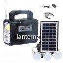 Kit Solar Lanterna LED Radio USB Becuri 6V4Ah GDPLUS GD8028COB Premium