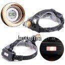 Lanterna Frontala 3W 2LED Alb Verde Zoom 2x18650 12V 220V LANT2XT6