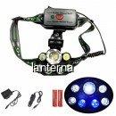 Lanterna Frontala 7W 7LED Alb Albastru Zoom 2x18650 12V 220V CZYT75T6