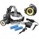 Lanterna Frontala LED+COB 3W, Zoom, 2x18650, 12V, 220V BLC861T6