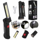Lanterna Lampa Lucru COB+1 LED 3W USB Capat Mobil, Magnet, Agatatoare