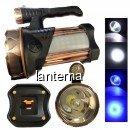 Lanterna LED 5500LUX 220V Lumina Alb Albastra cu USB TDT18