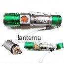 Mini Lanterna LED 3W cu Zoom si Incarcare Directa USB XY818