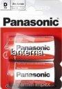 Panasonic baterii r20 d zinc carbon 2 buc la blister