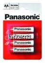 Panasonic baterii r6 aa zinc carbon 4 buc la blister